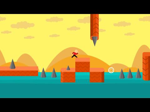 开始游戏 全屏游戏 点击屏幕控制角色跳跃